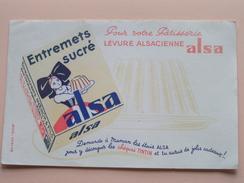ALSA Levure Alsacienne ( Pour Votre Pâtisserie ) 21 X 13,5 Cm. - Buvard EFGE ( Voir Photo ) ! - A