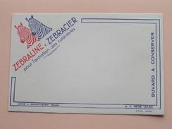 ZEBRALINE - ZEBRACIER Pour L'Entretien Des Cuisinières (Choisy-le-Roi (Seine) 20 X 13 Cm. - Buvard SOFOGA ( Voir Photo ) - Löschblätter, Heftumschläge