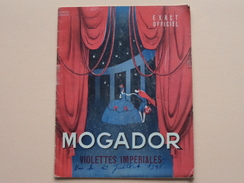 Theatre MOGADOR (1948) Violettes Impériales ( Varna/Merkès/Walls/Ragon/Gilbert/Allain/Pierjac............ ( Voir Photo ) - Programma's