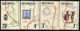 AS4523 Botswana 1972 Postal Map Votes In The Vote 4V MNH - Botswana (1966-...)