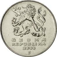 République Tchèque, 5 Korun, 2008, TTB, Nickel Plated Steel, KM:8 - Tchéquie