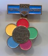 1973. World Festival Of Students And Youth - FDJ, Berlin DDR E. Germany, Vintage Pin, Badge, Abzeichen, D 40 X 30 Mm - Associations