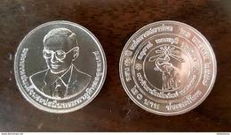 Thailand Coin 20 Baht 2016 50th Chiang Mai University (#64) UNC - Thailand