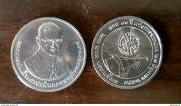 Thailand Coin 20 Baht 2015 80th Thammasat University (#63) UNC - Thailand