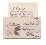 FES Ville Nouvelle MAROC Cachet Régiment + Linéaire Lieutenant PRIMET Trésorier Du 8e Régiment De SPAHIS Pour Vichy - 1921-1960: Modern Period
