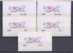 Singapore 2018 Potpourri Design  ATM  Frama Machine Labels Mint - 5 Values - ATM - Frama (Verschlussmarken)