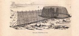 1877 - Gravure Sur Bois - Saint-Valery-en-Caux (Seine-Maritime) - Un Haut Parc - FRANCO DE PORT - Estampes & Gravures