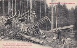 Forêt De L'Urson - Les Schlitteurs Gravissant La Montagne - Frankrijk