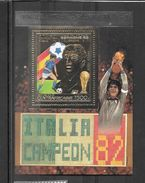 Centrafrique Central Africa Bloc Or Gold Vainqueurs CM 82 ** - 1982 – Espagne