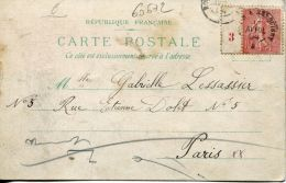 N°60672 -millésime Semeuse 10 C Sur Carte Postale - Millésime