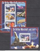 R593 2007 DE GUINEE AVIATION SIR ARTHUR MARSHALL 1KB+1BL MNH - Concorde