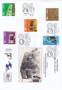 Kuwait New 2015, 100th Year 1st Post Office 5 Stamps Compl.set On Official FDC- Scarce - SKRILL PAY. ONLY-large Size FDC - Kuwait