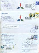 Kazakhstan 2016-17.Four Envelopes Of Kazakhstan Passed The Mail. - Kazakhstan