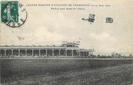 GRANDE SEMAINE D'AVIATION DE CHAMPAGNE - Reims, Paulhan Passe Devant Les Tribunes. - Meetings