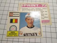 COMPLETEZ VOS ALBUMS !!! Image Cartonnée (de Récupération) En TBE : PANINI SPRINT 72 CYCLISME N° 41 - Panini