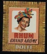 "étiquette Rhum   Grand Arôme Dolfi   Grande Distillerie Strasbourgeoise ""femme"" - Rhum"