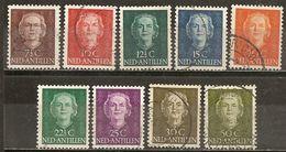 Antilles Neerlandaises Netherlands Antilles 1950 Definitives Obl - Curacao, Netherlands Antilles, Aruba