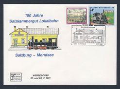 Austria Österreich 1991 Cover / Brief / Lettre - 100 Jahre Salzkammergut Lokalbahn - Salzburg-Mondsee - Treinen