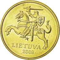 Lithuania, 10 Centu, 2008, SUP, Nickel-brass, KM:106 - Lithuania