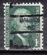 USA Precancel Vorausentwertung Preo, Locals North Carolina, Balsam 841 - United States