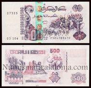 Argelia Algeria 500 Dinars 1998 Pick 141 Second Sign SC UNC - Argelia