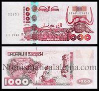 Argelia Algeria 1000 Dinars Water Buffalo 1998 Pick 142b SC UNC - Argelia