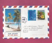 Lettre Pour La France De Polynésie De 2008 - YT N° 835 Et 826 - Autoadhésif - Scooter - Baleine à Bosse - Polinesia Francese