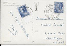 LUXEMBOURG - 1969 - CARTE De VIANDEN Avec TIMBRE POSTE UTILISEE COMME TAXE  => KLEINBETTINGEN - Postage Due