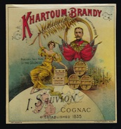 Etiquette  Khartoum Brandy  1898 L Sauvion Cognac  étiquette Vernie Superbe  Imp Chardin - Whisky