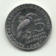 2014 - Burundi 5 Franc, - Burundi