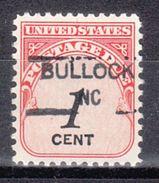 USA Precancel Vorausentwertung Preo, Locals North Carolina, Bullock 835,5 - Vereinigte Staaten