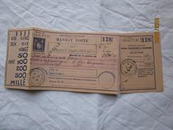 LE  /  A Identifier , Mandat-poste Roubaix , Cours Pratiques Du 10 Août 1945 - à Paris-14ème - Enteros Postales