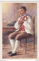 """H. Santel: """"Stara Goriska Okolicanska Nosa"""" Old Unused Postcard B180103 - Paintings"""