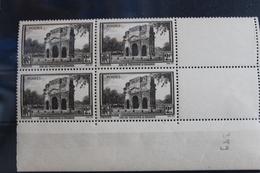 1938      ARC  DE  TRIOMPHE  ORANGE   BLOC  DE  4    FRAICHEUR  POSTALE - France
