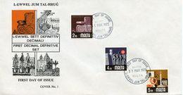 MALTA  -  1973 LOCAL MOTIFS    FDC1783 - Malta