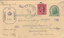 Etats Unis Entier Postal Censuré Pour L'Allemagne 1940 - 1921-40