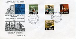 MALTA  -  1973 LOCAL MOTIFS    FDC1784 - Malta