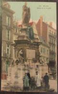 Rouen N°100 - Statue De La Pucelle - Carte Colorisée Animée, Circulée - Rouen