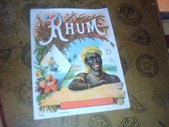 "Etiquette De Rhum Neuve Rhum '""D"" - Rhum"