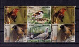 BLOC DE SIX TIMBRES(oiseaux) NEUF** - Bangladesh