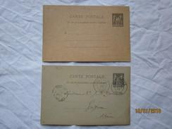 LE  /   Lot De 2 Entiers , Un Vierge , Un écrit à Mme Vve GUENIN Le 18 Janvier 1897 . Achat De Truffes - Enteros Postales