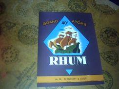 Etiquette De Rhum Neuve Grand Arome  Distillerie  MG  Rohart A Loos - Rhum
