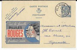 BELGIQUE - 1943 - CARTE ENTIER PUBLIBEL 496 De FLERON => PEPINSTER - Werbepostkarten