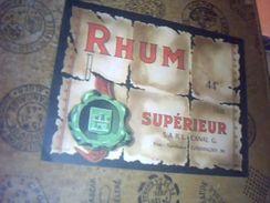 Etiquette De Rhum Neuve Rhum  Superieur  Distillerie Sarl Canal G A Giromagny - Rhum
