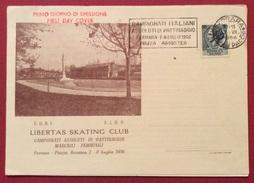 SPORT PATTINAGGIO  FERRARA LIBERTAS SKATING CLUB  1956  CAMPIONATI ITALIANI ASSOLUTI DI PATTINAGGIO BIGLIETTO INVITO - Cartoline