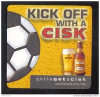 MALTA - SIMONS FARSONS RED CISK LAGER BEER  MATT - - Beer Mats