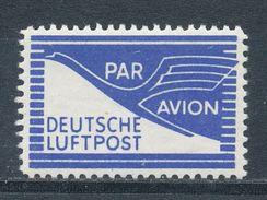Bizone Flugpost-Zulassungsmarke 1 ** Mi. 1,20 - American/British Zone