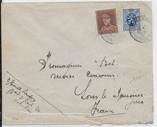 """BELGIQUE - 1932 - ENVELOPPE De COURTRAI Avec OBLITERATION BILINGUE """"CENTRE TEXTILE..."""" => LONS LE SAUNIER (JURA) - Belgique"""