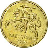 Lithuania, 10 Centu, 2008, TTB, Nickel-brass, KM:106 - Lituanie
