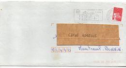 2001--Flamme  COULONGES SUR L'AUTIZE--79--Le Chateau ---type Marianne Luquet Autocollant - Postmark Collection (Covers)